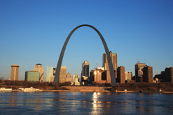 Gateway Arch, downtown Saint Louis, Missouri