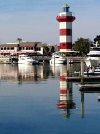 Lighthouse at Hilton Head Harbor, South Carolina