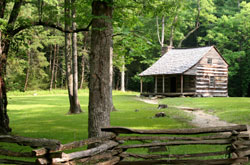 Log Cabin in the Smoky Mountains, Tennessee