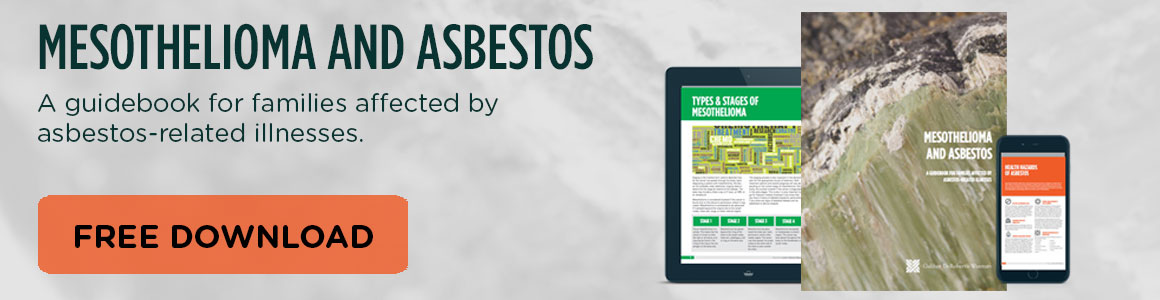 Click here to download the Mesothelioma & Asbestos Guidebook